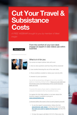 Cut Your Travel & Subsistance Costs