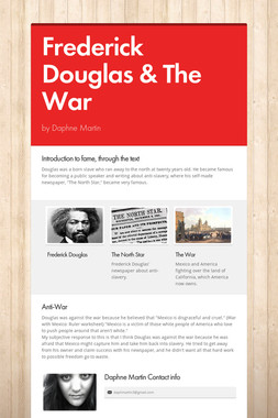 Frederick Douglas & The War