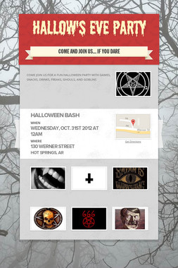 HALLOW'S EVE PARTY