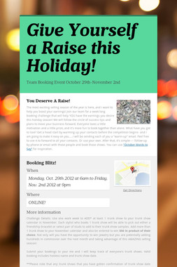 Give Yourself a Raise this Holiday!