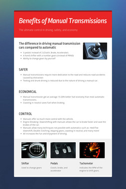 Benefits of Manual Transmissions