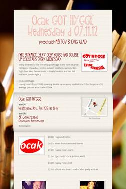 Ocak GOT HYGGE Wednesday d 07.11.12
