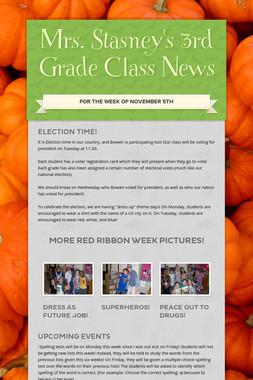 Mrs. Stasney's 3rd Grade Class News