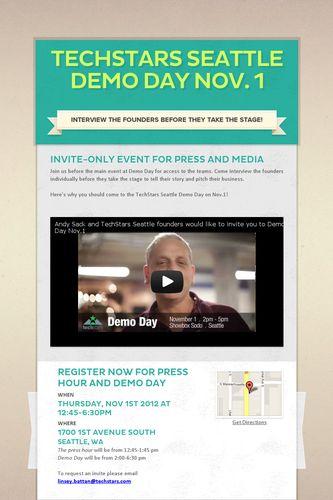 TechStars Seattle Demo Day Nov. 1