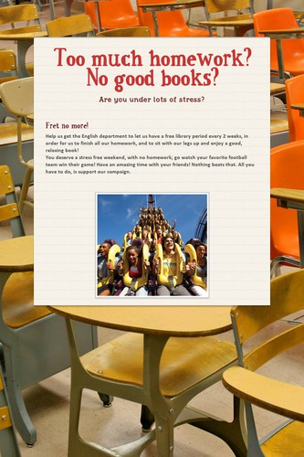 Too much homework? No good books?