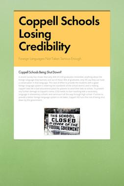 Coppell Schools Losing Credibility