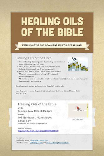 Healing Oils Of The Bible Smore