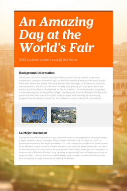 An Amazing Day at the World's Fair