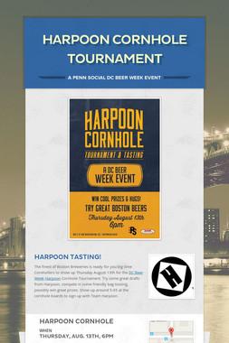 Harpoon Cornhole Tournament