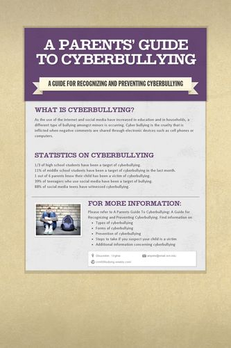 A Parents' Guide to Cyberbullying
