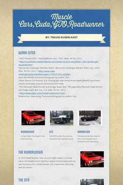 Muscle Cars,Cuda,GTO,Roadrunner