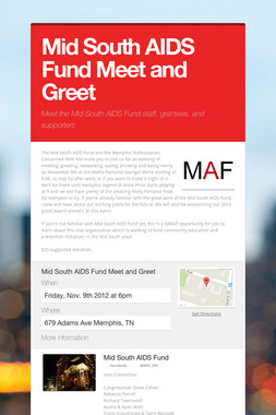 Mid South AIDS Fund Meet and Greet