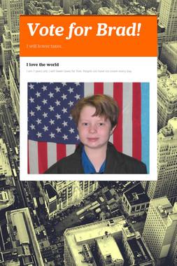 Vote for Brad!