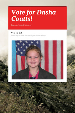 Vote for Dasha Coutts!