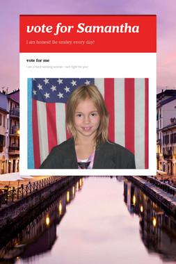 vote  for  Samantha