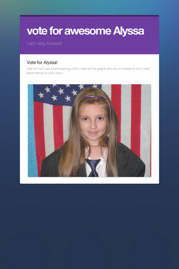 vote for awesome Alyssa