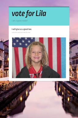 vote for Lila
