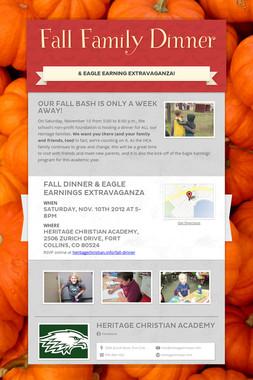 Fall Family Dinner