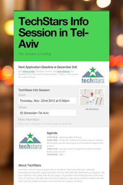 TechStars Info Session in Tel-Aviv