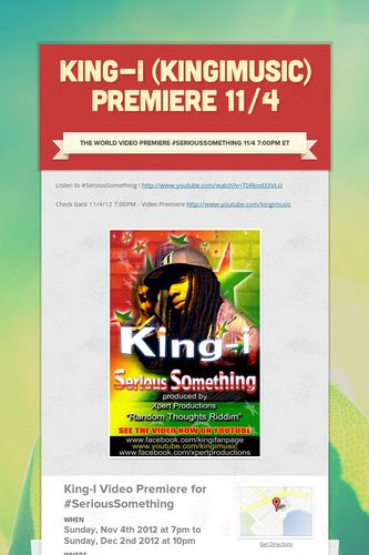 King-I (KingiMusic) Premiere 11/4