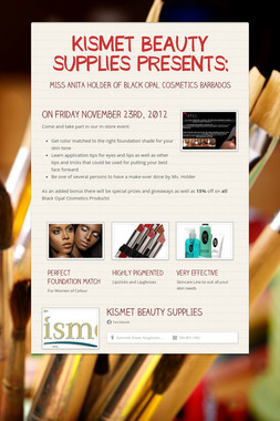 KISMET BEAUTY SUPPLIES PRESENTS: