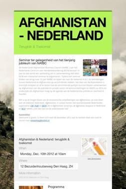 AFGHANISTAN - NEDERLAND
