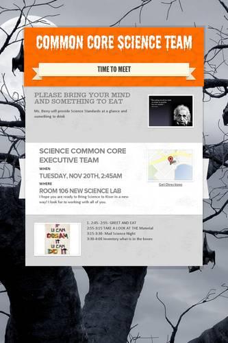 Common Core Science Team