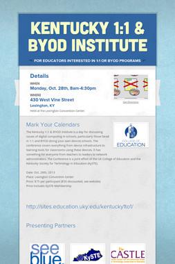 Kentucky 1:1 & BYOD Institute