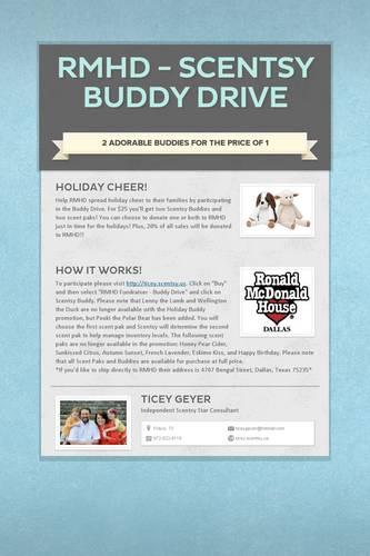 RMHD - Scentsy Buddy Drive