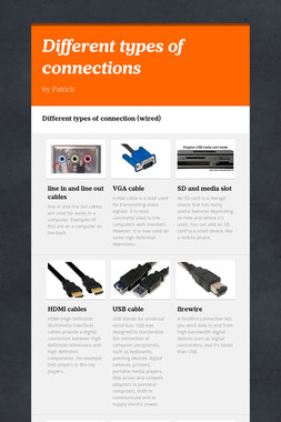 Different types of connections