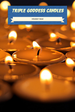 Triple Goddess Candles