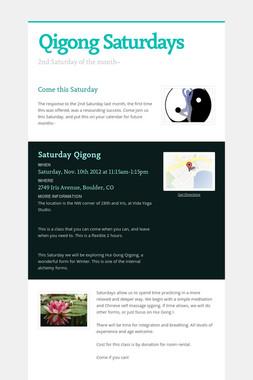Qigong Saturdays