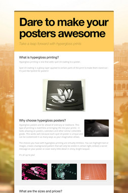 Dare to make your posters awesome