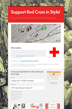 Support Red Cross in Style!