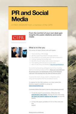 PR and Social Media