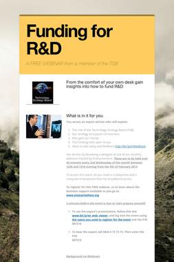 Funding for R&D