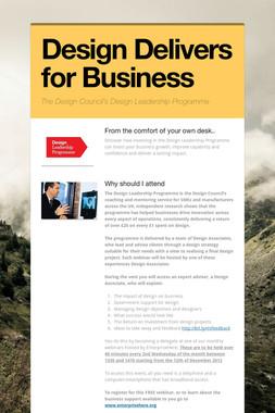 Design Delivers for Business