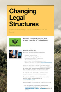 Changing Legal Structures