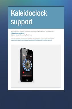 Kaleidoclock support