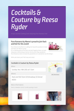 Cocktails & Couture by Reesa Ryder