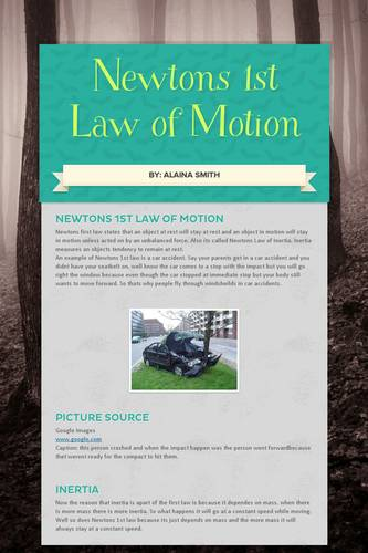 Newtons 1st Law of Motion