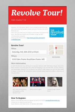 Revolve Tour!