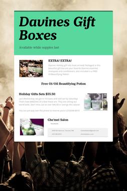 Davines Gift Boxes