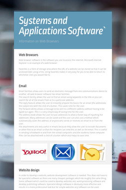 Systems and Applications Software`