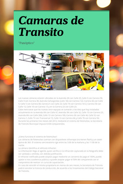 Camaras de Transito