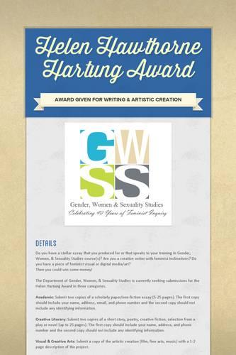 Helen Hawthorne Hartung Award