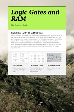 Logic Gates and RAM