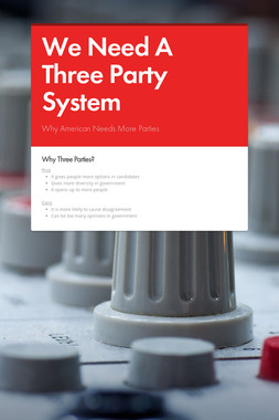 We Need A Three Party System