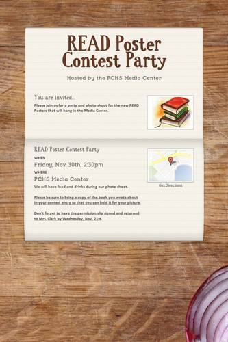 READ Poster Contest Party