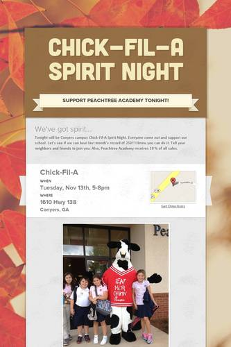 Chick-Fil-A Spirit Night